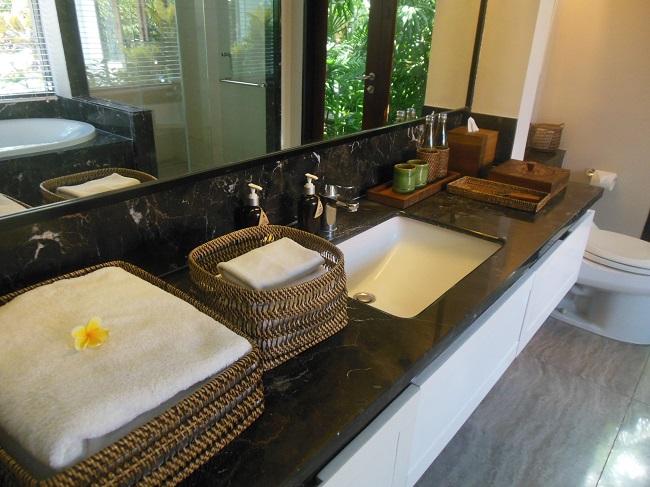 アラヤデダウンクタ プライベートプール付1ベッドルームヴィラ 洗面台