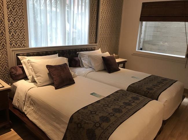 バリ・マンディラ・ビーチ・リゾート デラックスコテージ ベッドルーム