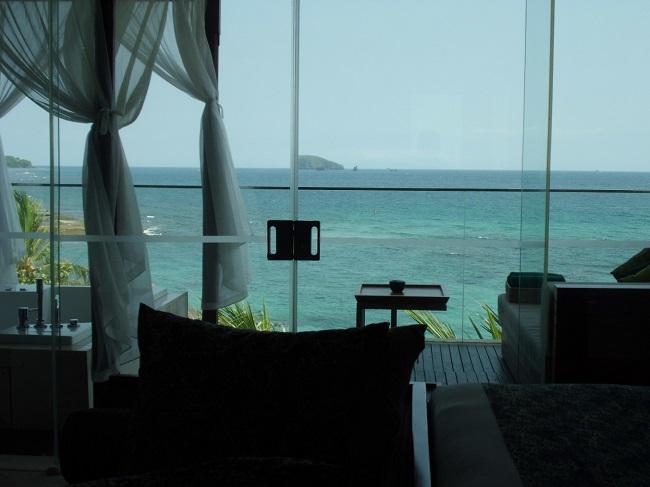 チャンディ ビーチ リゾート & スパ オーシャンビュースイート 部屋からの海の景色