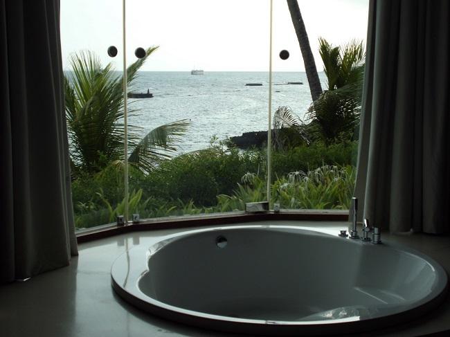 チャンディ ビーチ リゾート & スパ 施術室からの景色