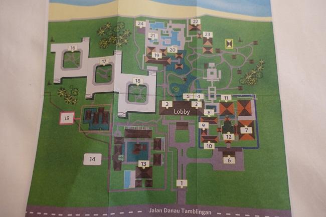 ハイアット リージェンシー バリ 館内マップ