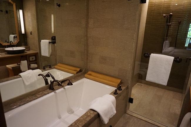 ハイアット リージェンシー バリ デラックスルーム バスルーム