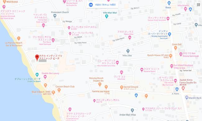 インディゴ スミニャック ビーチ MAP
